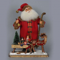 Karen Didion Originals - LE Vintage Santa with Sled
