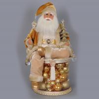 Karen Didion Originals - Lighted Golden Christmas Shine Santa