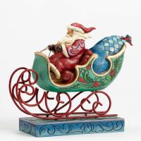 Jim Shore - Wonderland Santa in Sleigh