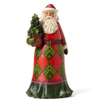 "Jim Shore - Santa with Evergreen - ""Rooted in Tradition"""