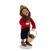 Byers Choice - Gene - Christmas Elf with Apples