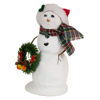Byers Choice - Snowman with Wreath