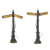Department 56 - Creepy Street Signs