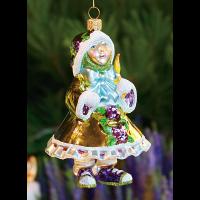 MacKenzie-Childs Patience Brewster - Gold Elf Glass Ornament