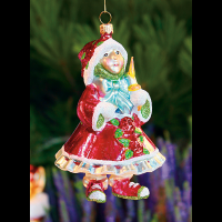Patience Brewster - Red Elf Glass Ornament
