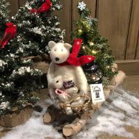 Aunt Liz's Attic - Bears on Birch Sled