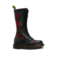 Dr. Martens Women's Vonda Embroidery W 14-Eye Boot