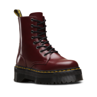 Dr. Martens Women's Jadon Boot,Black Polished Smooth,3 UK/5 M US