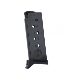 Ruger LCP II 380 ACP 6-Round Blued Steel Magazine with Finger Rest...