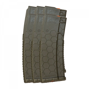 6 Pack of Hexmag Series 2 AR-15 .223/5.56 30-Round Magazine Olive...