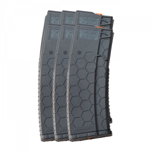 6 Pack of Hexmag Series 2 AR-15 .223/5.56 30-Round Magazine Dark Gray