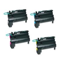 Remanufactured Lexmark X792 toner cartridges - extra high capacity - 4-pack