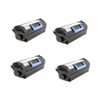 Remanufactured Dell 332-0131 (03YNJ) toner cartridges - ultra high capacity black - 4-pack