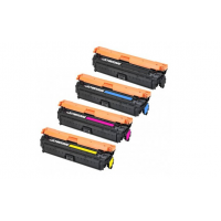 Compatible HP 651A toner cartridges - 4-pack